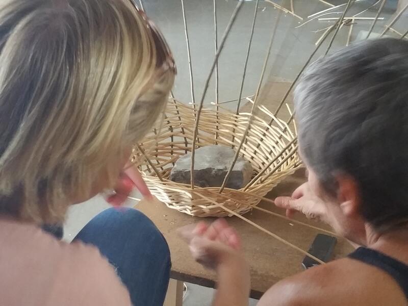 Bergerie en Garrigue Atelier initiation vannerie 162